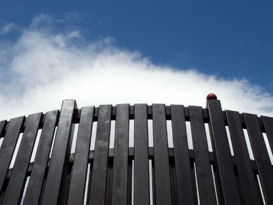 wormview of a dark brown colored timber fence | Gladstone Fencing Pros
